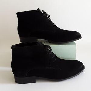 2/$20 FRANCO SARTO BLACK SUEDE ANKLE BOOTS